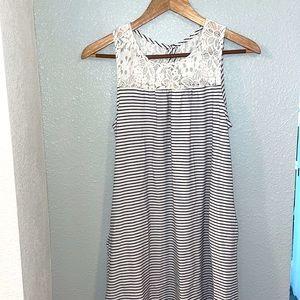 Merona Striped Lace Mini Dress
